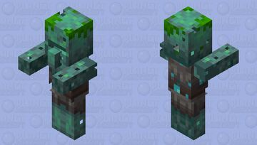 Drowned Villager (Layer 2) Minecraft Mob Skin