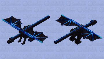 Fafnir the nordic blue dragon Minecraft Mob Skin