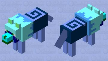 Ancient Water Wolf Cinnamon Bun Minecraft Mob Skin