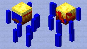 Ocean and Nether Blaze Minecraft Mob Skin