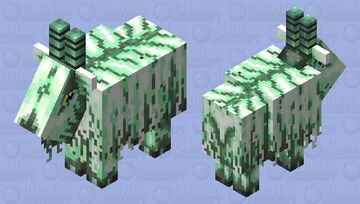 Glowing goat for mob that glow contest by Melygoomba Minecraft Mob Skin