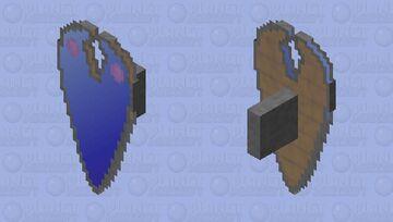 Blue Gradient W/ Gems Shield Minecraft Mob Skin