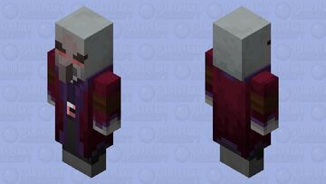 Necromancer Illager(Re Texturing)(Red Color) Minecraft Mob Skin