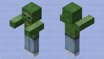 Drip fit zombie (with abs) Minecraft Mob Skin