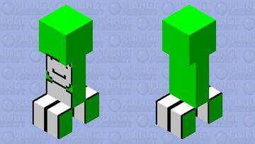Dream Creeper Skin Minecraft Mob Skin