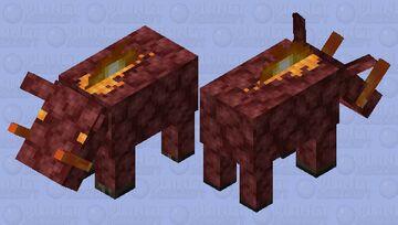 Netherack hoglin Minecraft Mob Skin