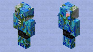 Blue Zombie Piglin Minecraft Mob Skin
