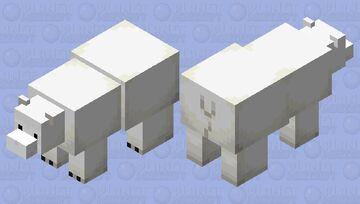 Kawaii Polar Bear Minecraft Mob Skin