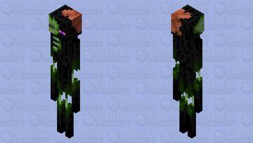 Ender Zombie (Enderman Zombie) Minecraft Mob Skin