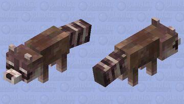 Racoon Brown Minecraft Mob Skin