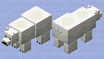 Polar Bear but Shaded by Me Minecraft Mob Skin