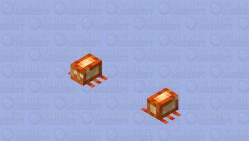 Larva / From Crimson Forest / spider / v.1 Minecraft Mob Skin