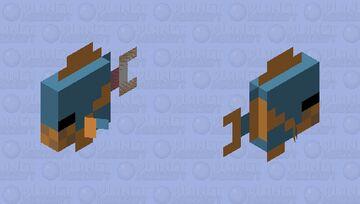 Piranha tropic fish Minecraft Mob Skin