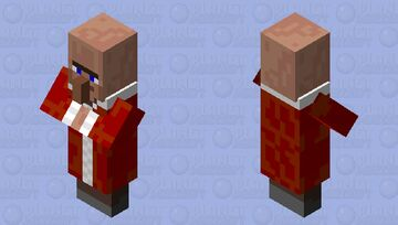 Alone_1244's mob shop: the christmas celebrating villager Minecraft Mob Skin