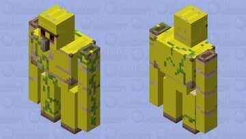 Enderman War Gold Golem Head Warrior Minecraft Mob Skin