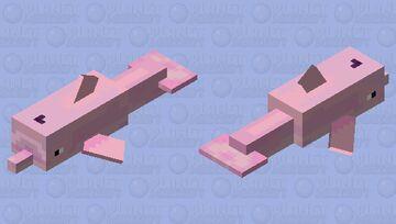 PINK DOLPHIN Minecraft Mob Skin