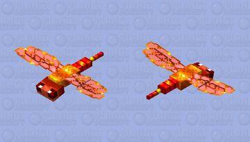 Lava dragonfly Minecraft Mob Skin