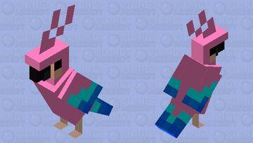 GIRL PARROT Minecraft Mob Skin