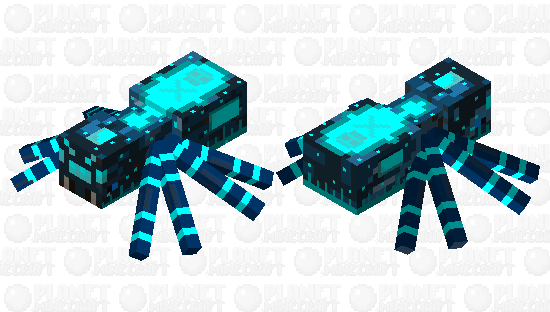 Glow Infected Cave Spider Minecraft Skin