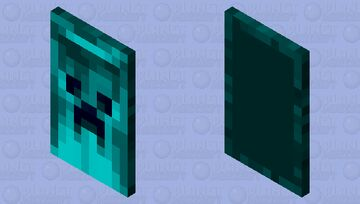Aqua creeper cape Minecraft Mob Skin
