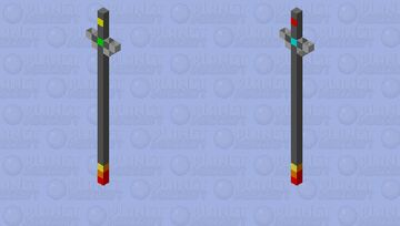 spear of elements Minecraft Mob Skin