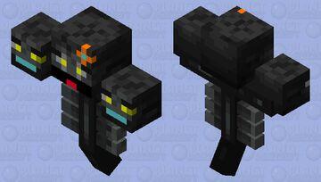 Glittener Guardian of the Eillager Experiement Structure. Minecraft Mob Skin