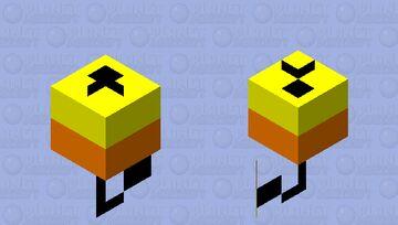 Yellow & Orange Bobber Minecraft Mob Skin