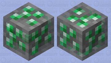 Emerald Slime Minecraft Mob Skin