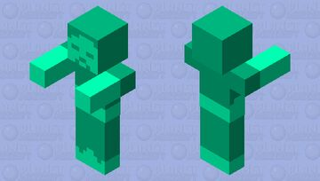 Cyan Zombie Minecraft Mob Skin