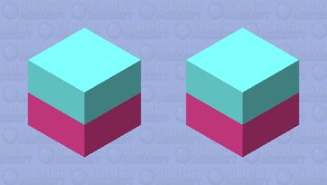 Blue and weak red ( purple) Tiktok cube Minecraft Mob Skin