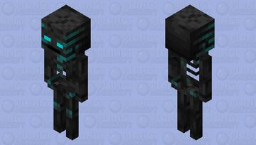 Glowing Wither Skeleton Minecraft Mob Skin