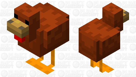 brown Chicken Minecraft Skin