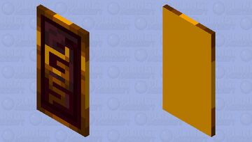 The shield of the hovering inferno Minecraft Mob Skin