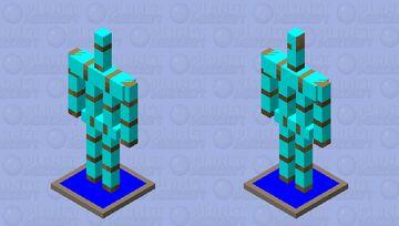 turquoise armor stand (kotek) ćź Minecraft Mob Skin