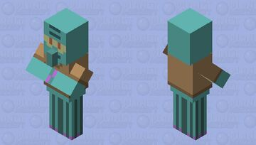 Cursed pack villager Minecraft Mob Skin