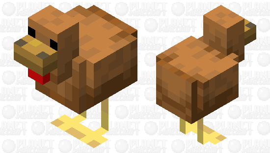 Brown Chicken Minecraft Skin