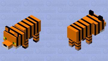 Tiger(Fox) Minecraft Mob Skin