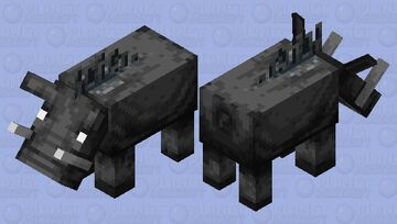 Retro Hoglin Minecraft Mob Skin