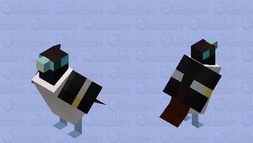 Wattled broadbill (Sarcophanops steerii) Minecraft Mob Skin