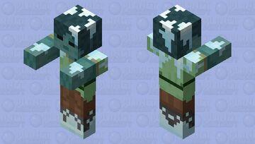 Frozen Zombie Alex Minecraft Mob Skin