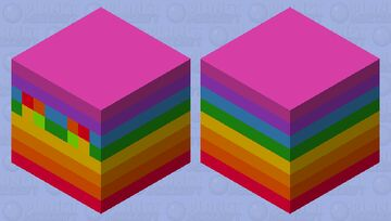 RainBow cube because why not? Minecraft Mob Skin