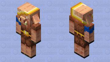 Lucky piglin Minecraft Mob Skin