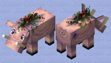 Flower-biome hoglin Minecraft Mob Skin