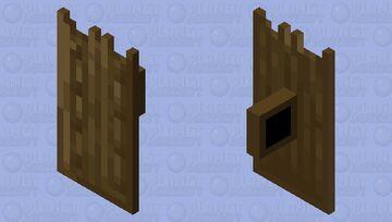 Wood shield Minecraft Mob Skin