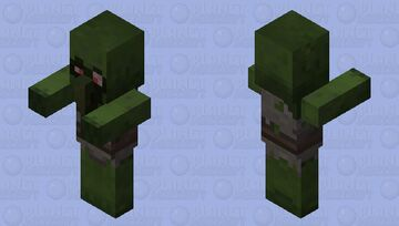 Diseased Zombie Villager (𝕱𝖔𝖗𝖇𝖎𝖉𝖉𝖊𝖓 𝕾𝖔𝖚𝖑𝖘) Minecraft Mob Skin
