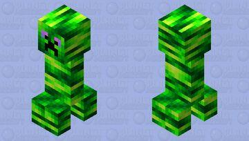 Neon creeper Minecraft Mob Skin