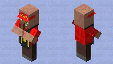 Mcdonalds employee Minecraft Mob Skin