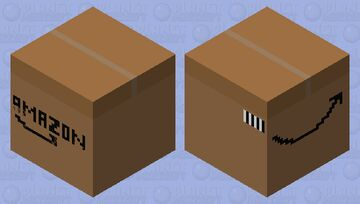 Amazon Box Shulker Minecraft Mob Skin