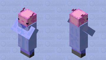 Axolotl Villager Minecraft Mob Skin