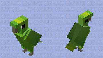 Papagaio-moleiro (Amazona farinosa) Minecraft Mob Skin